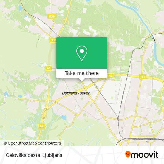 Celovška cesta map