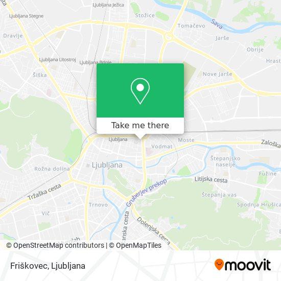 Friškovec map