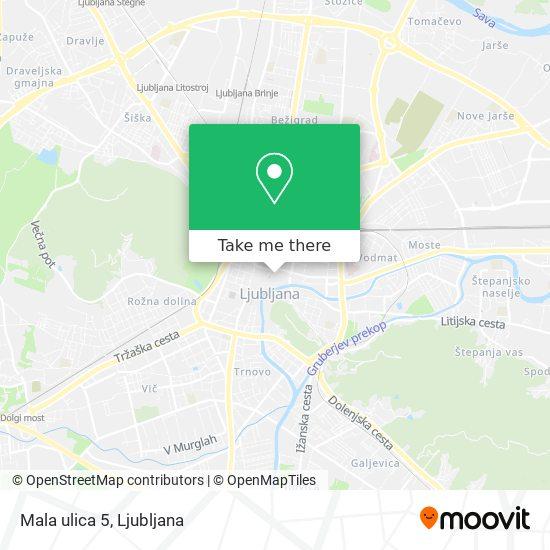 Mala ulica 5 map