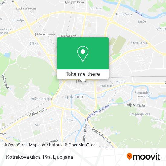 Kotnikova ulica 19a map
