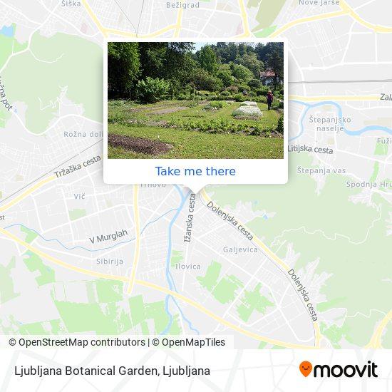 Ljubljana Botanical Garden map