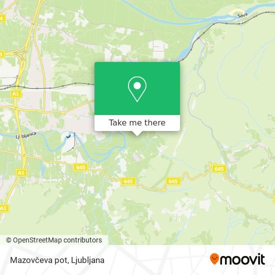 Mazovčeva pot map