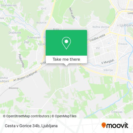 Cesta v Gorice 34b map
