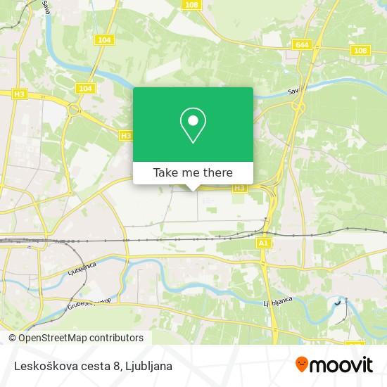 Leskoškova cesta 8 map