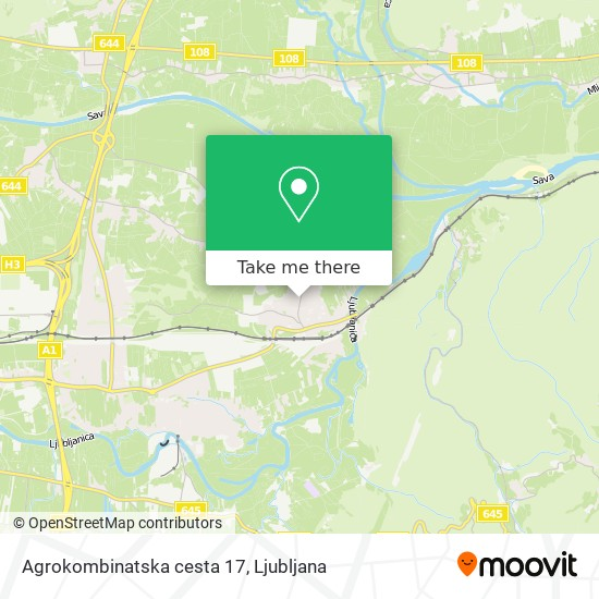 Agrokombinatska cesta 17 map