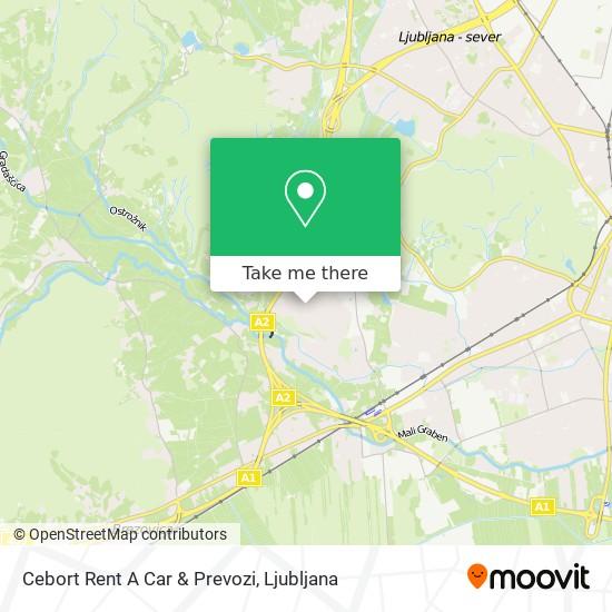 Cebort Rent A Car & Prevozi map