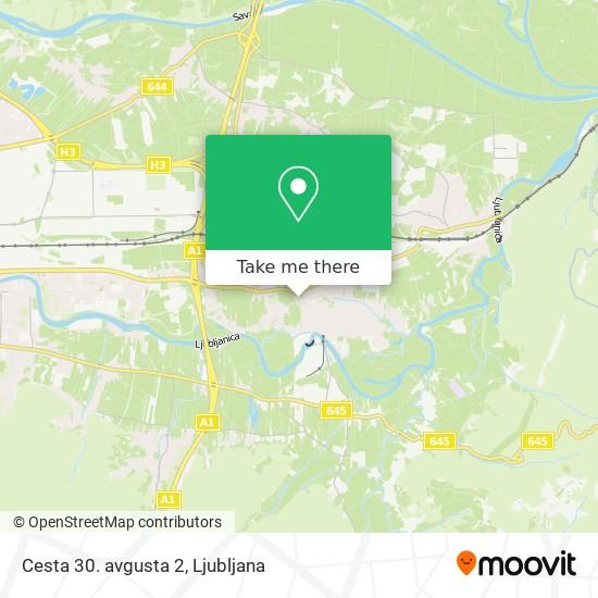 Cesta 30. avgusta 2 map