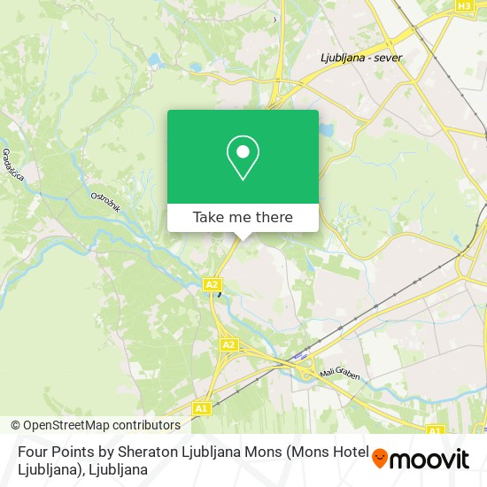 Four Points by Sheraton Ljubljana Mons (Mons Hotel Ljubljana) map
