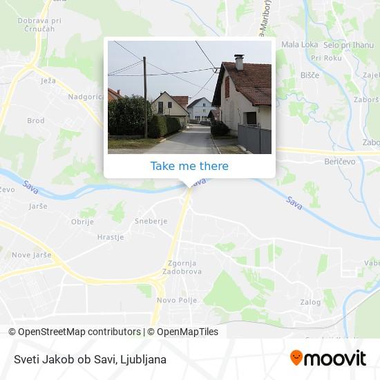 Sveti Jakob ob Savi map