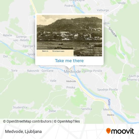 Medvode map