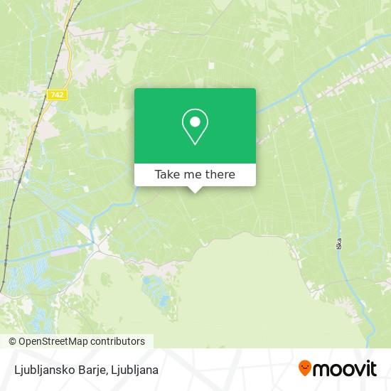 Ljubljansko Barje map