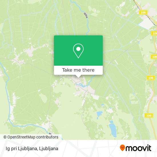 Ig pri Ljubljana map