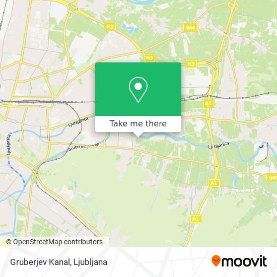 Gruberjev Kanal map