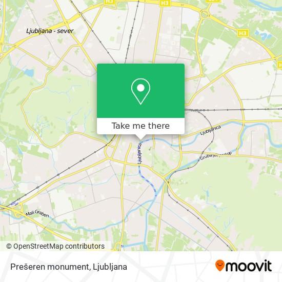 Prešeren monument map