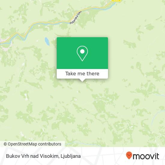 Bukov Vrh nad Visokim map