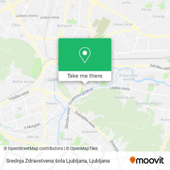 Srednja Zdravstvena šola Ljubljana map