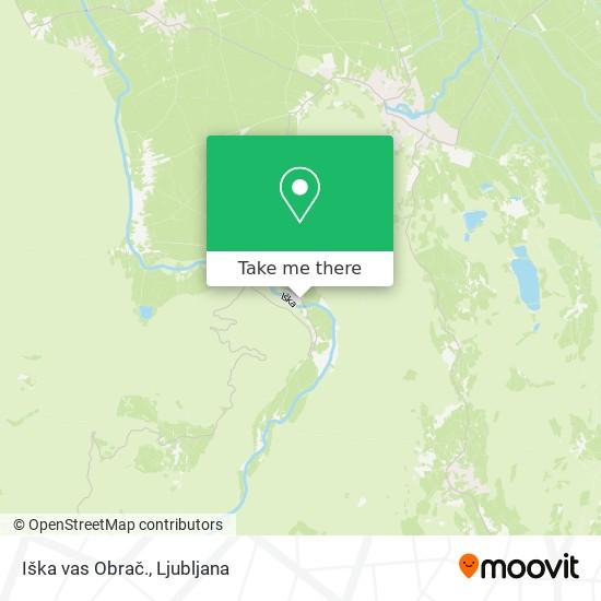 Iška vas Obrač. map