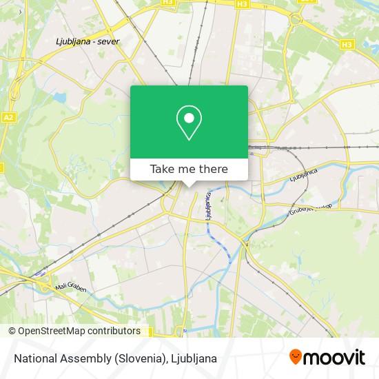 National Assembly (Slovenia) map