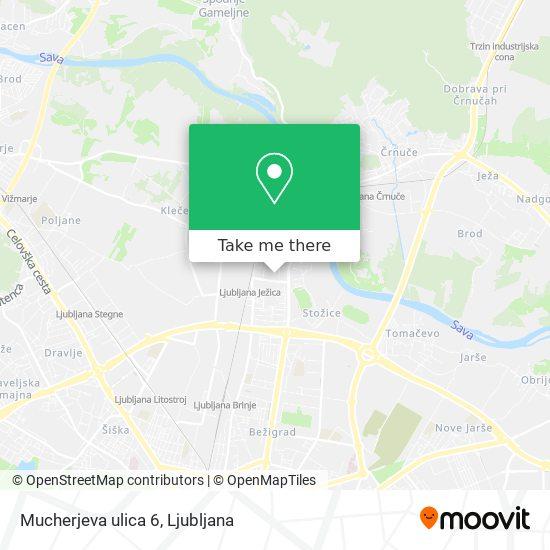 Mucherjeva ulica 6 map