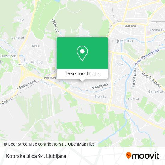Koprska ulica 94 map