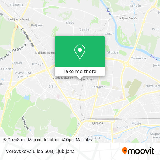 Verovškova ulica 60B map