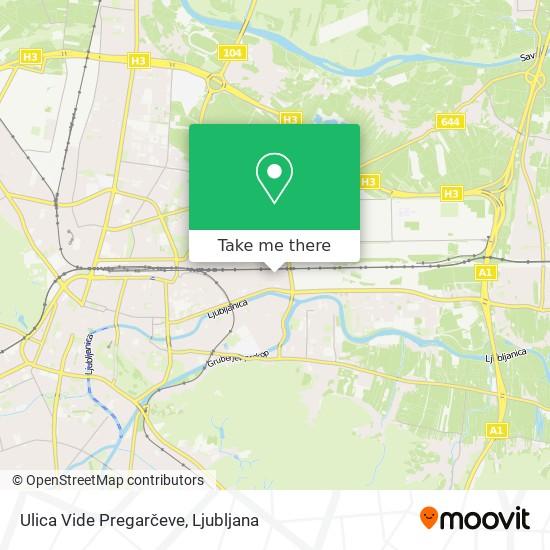 Ulica Vide Pregarčeve map