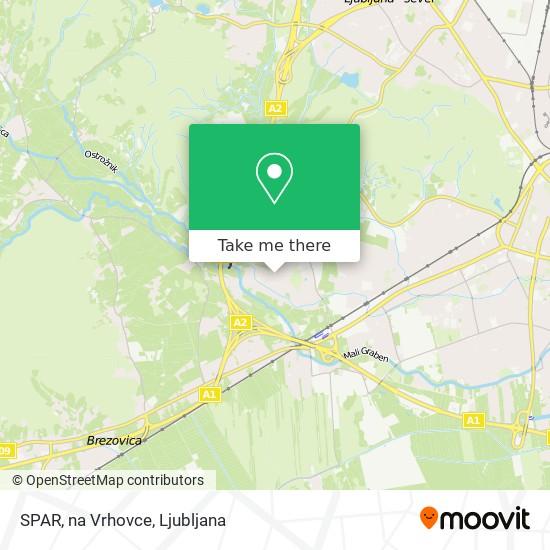 SPAR, na Vrhovce map
