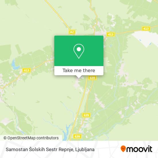 Samostan Šolskih Sestr Repnje map