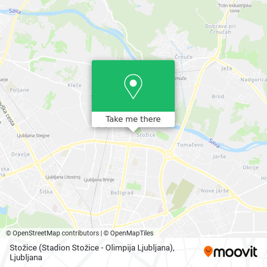 Stožice (Stadion Stožice - Olimpija Ljubljana) map