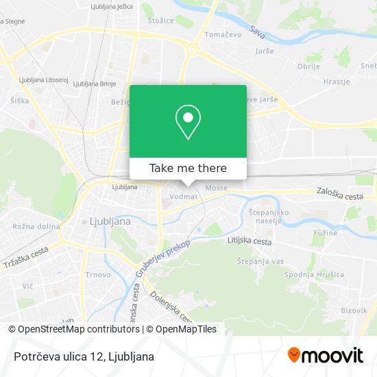 Potrčeva ulica 12 map