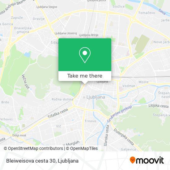 Bleiweisova cesta 30 map
