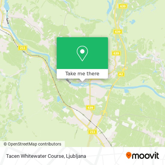 Tacen Whitewater Course map