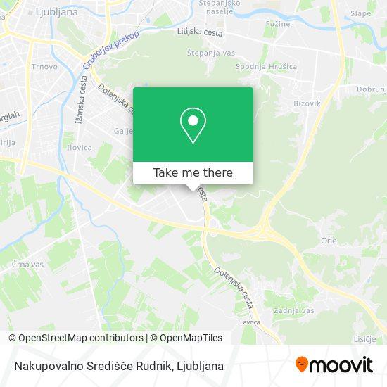 Nakupovalno Središče Rudnik map