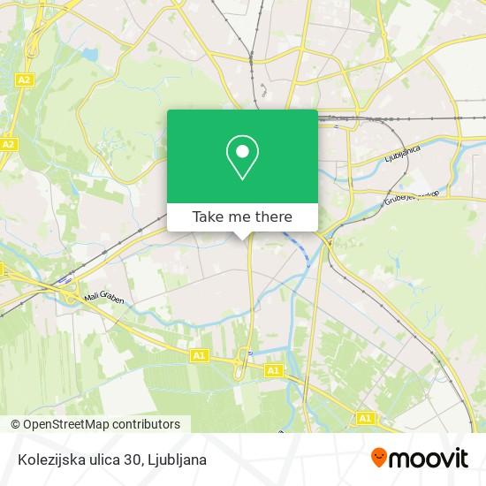 Kolezijska ulica 30 map