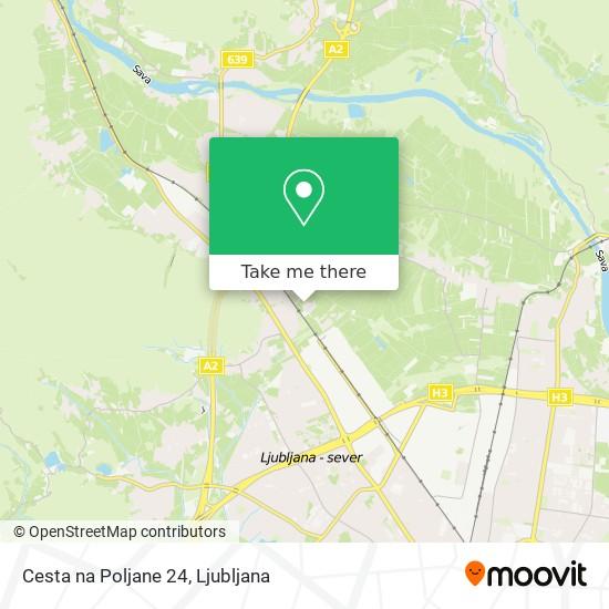 Cesta na Poljane 24 map