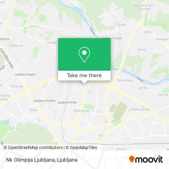 Nk Olimpija Ljubljana map