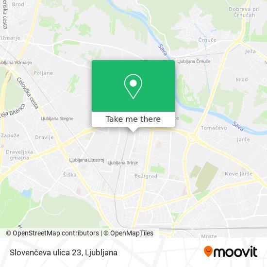 Slovenčeva ulica 23 map