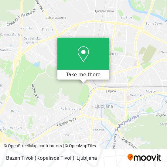 Bazen Tivoli (Kopalisce Tivoli) map