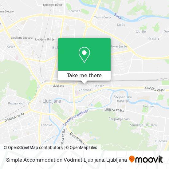 Simple Accommodation Vodmat Ljubljana map