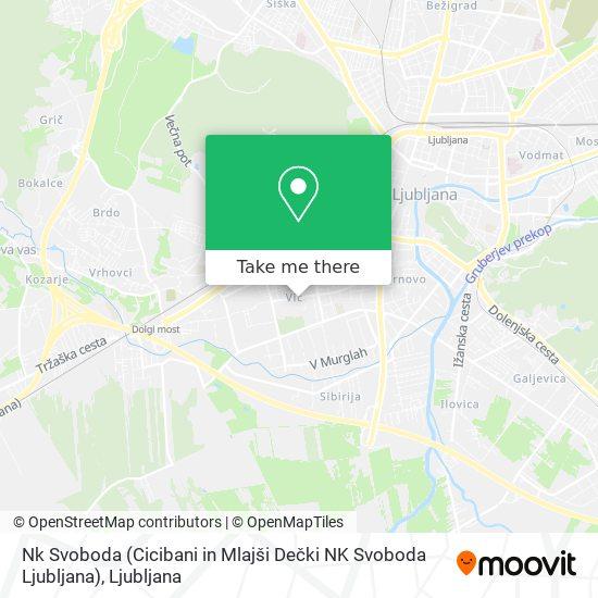 Nk Svoboda (Cicibani in Mlajši Dečki NK Svoboda Ljubljana) map