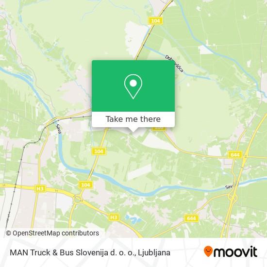 MAN Truck & Bus Slovenija d. o. o. map