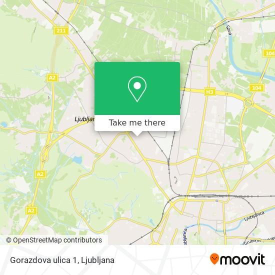 Gorazdova ulica 1 map