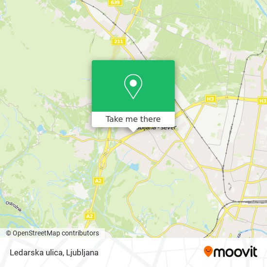 Ledarska ulica map