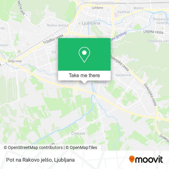 Pot na Rakovo jelšo map