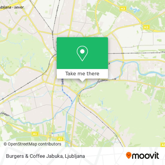 Burgers & Coffee Jabuka map