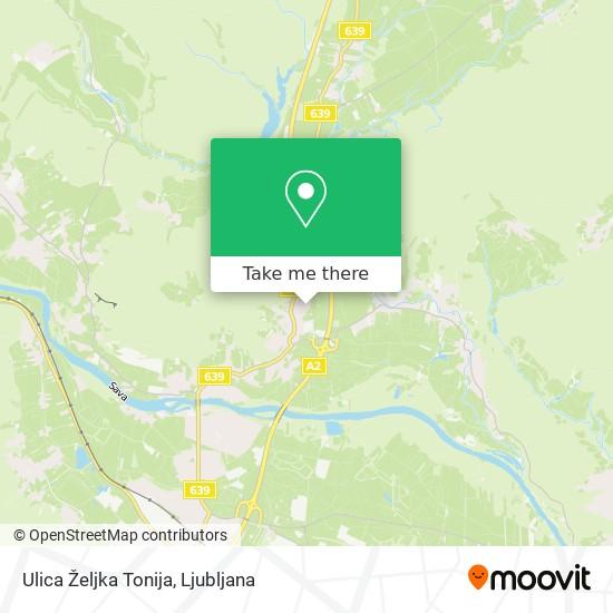 Ulica Željka Tonija map