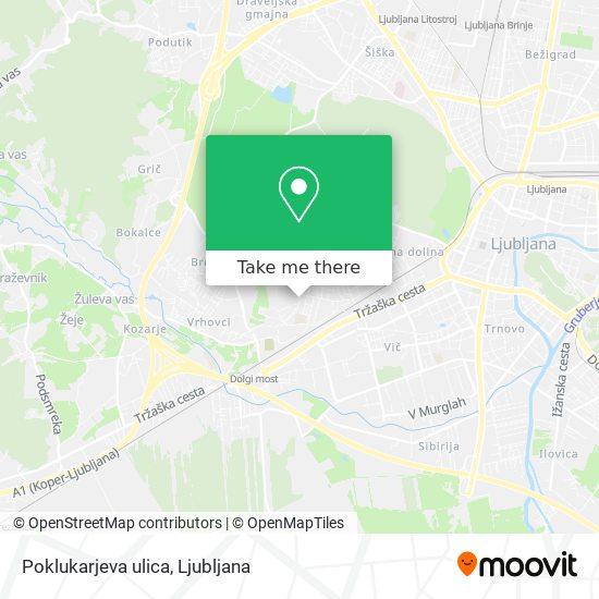 Poklukarjeva ulica map