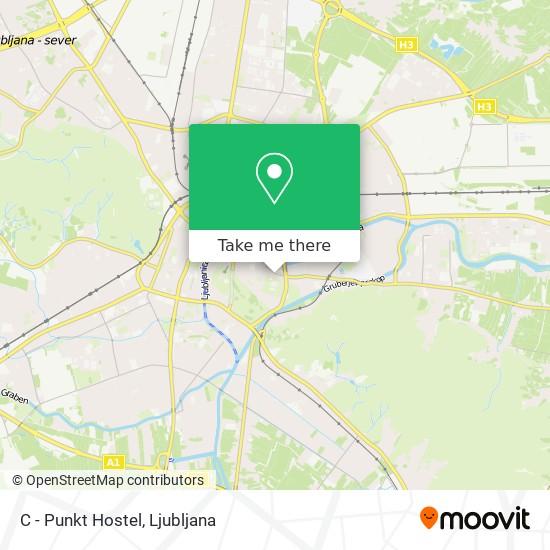 C - Punkt Hostel map