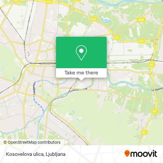 Kosovelova ulica map