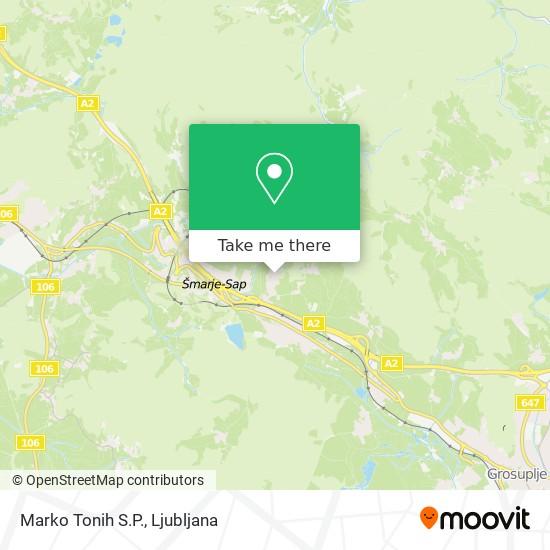 Marko Tonih S.P. map